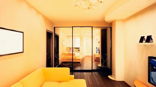 Расширяем визуально узкую комнату с помощью зеркал