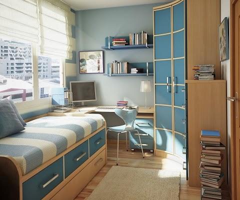 Оформление интерьера прямоугольной комнаты