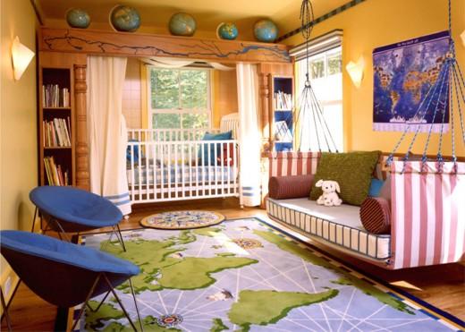 Зона для отдыха и сна в детской комнате