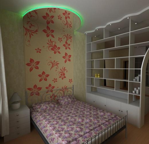 Идея зонирования спальни