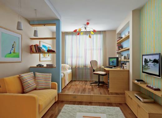 Как визуально расширить узкую комнату