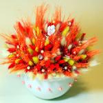 Композиции из сухоцветов для интерьера