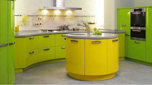 Цветовые сочетания для зеленой кухни