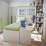 Обустройство маленькой комнаты для подростка