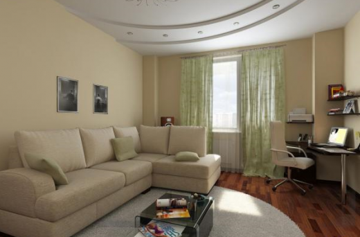 Освещение функциональных зон в го</h2> гостиной