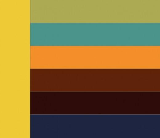 Сочетание горчичного цвета с другими цветами в интерьере