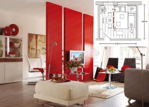 Современный способ зонирования гостиной